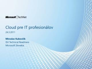 Cloud pre IT  profesion álov