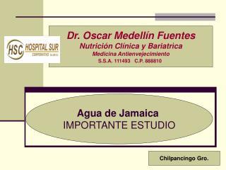 Agua de Jamaica IMPORTANTE ESTUDIO