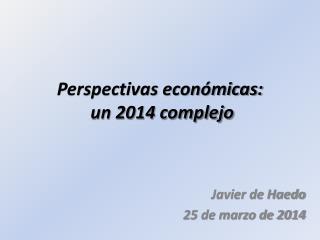 Perspectivas económicas:  un 2014 complejo
