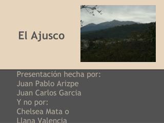 El Ajusco