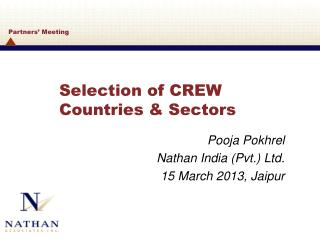 Selection of CREW Countries & Sectors