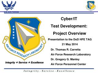 Cyber/IT  Test Development:  Project Overview