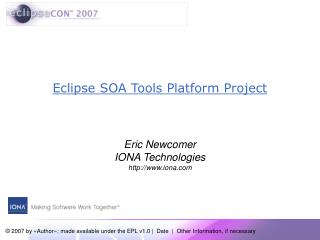 Eclipse SOA Tools Platform Project