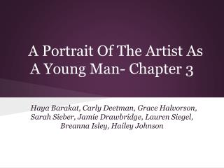 A Portrait Of The Artist As A Young Man- Chapter 3