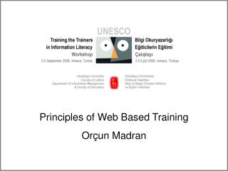 Principles of Web Based Training