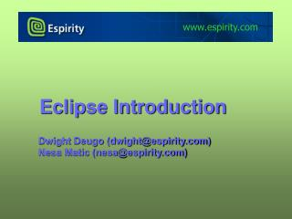 Eclipse Introduction