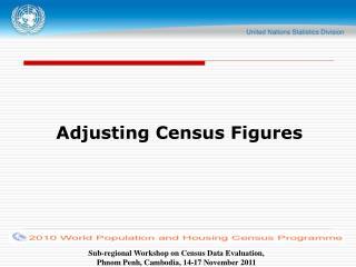 Adjusting Census Figures