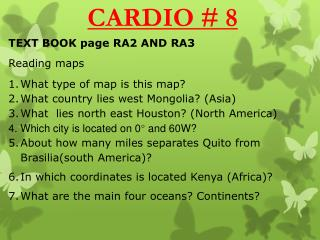 TEXT BOOK page  RA2 AND RA3 Reading maps What type of map is this map?