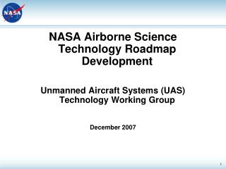 NASA Airborne Science Technology Roadmap Development