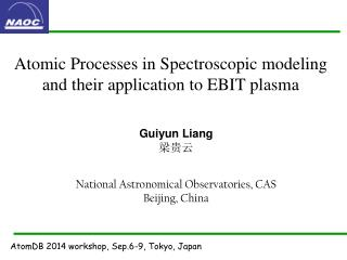 Atomic  Processes  in Spectroscopic modeling and their application to EBIT plasma