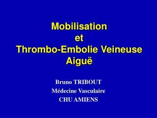 Mobilisation et  Thrombo-Embolie Veineuse Aiguë