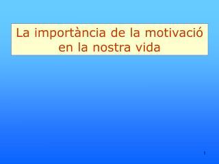 La importància de la motivació en la nostra vida