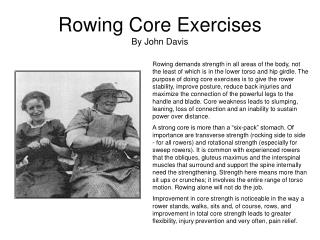 Rowing Core Exercises By John Davis