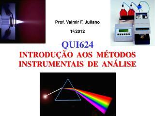 Prof. Valmir F. Juliano 1º/2012