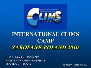 INTERNATIONAL CLIMS CAMP ZAKOPANE-POLAND 2010