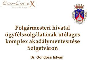 Polgármesteri hivatal ügyfélszolgálatának utólagos komplex akadálymentesítése Szigetváron