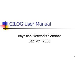 CILOG User Manual