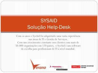SYSAID S olução  Help-Desk
