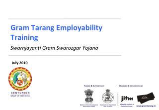 Gram Tarang Employability  Training Swarnjayanti Gram Swarozgar Yojana