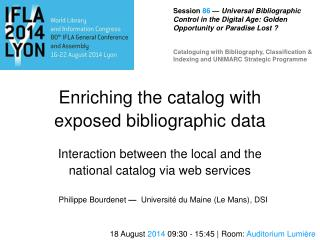 Enriching the catalog with exposed bibliographic data
