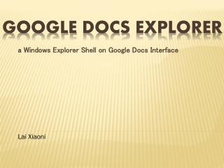 Google  Docs  Explorer
