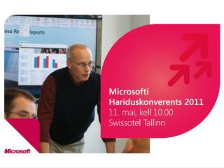 Tere tulemast Microsofti Hariduskonverentsile!