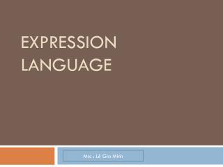 Expression Language