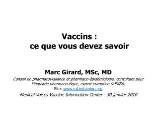 Vaccins : ce que vous devez savoir