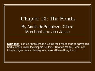 Chapter 18: The Franks