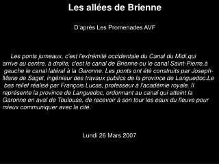 Les allées de Brienne D'après Les Promenades AVF