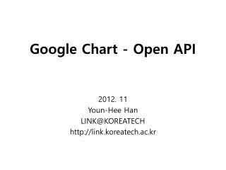 Google Chart - Open API