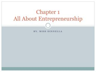 Chapter 1  All About Entrepreneurship