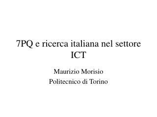 7PQ e ricerca italiana nel settore ICT