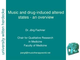 Music and drug-induced altered states - an overview