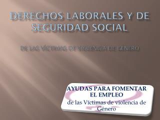DERECHOS LABORALES Y DE SEGURIDAD SOCIAL DE LAS VÍCTIMAS DE VIOLENCIA DE GÉNERO