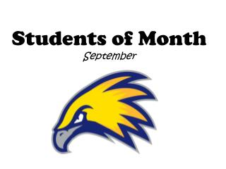 Students of Month September
