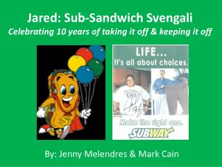 Jared: Sub-Sandwich Svengali Celebrating 10 years of taking it off & keeping it off