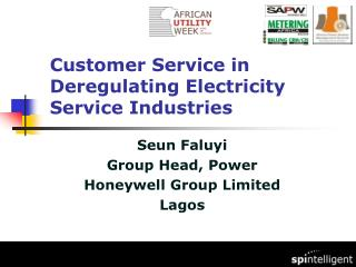 Customer Service in Deregulating Electricity Service Industries