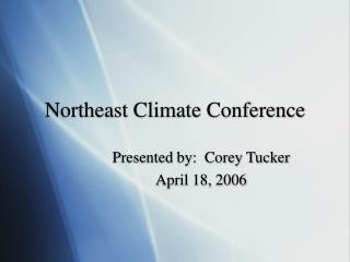 Northeast Climate Conference