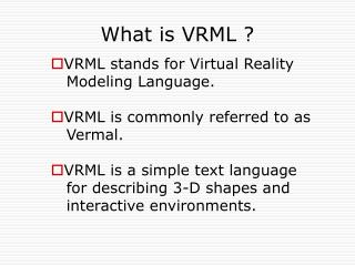 What is VRML ?