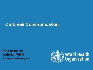 Outbreak Communication