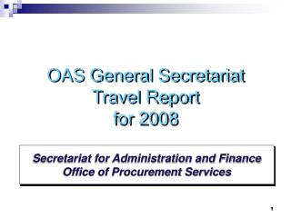 Secretariat for Administration and Finance Office of Procurement Services