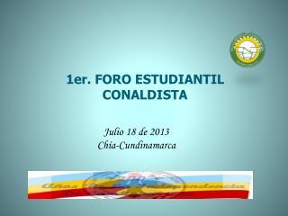 1er. FORO ESTUDIANTIL CONALDISTA