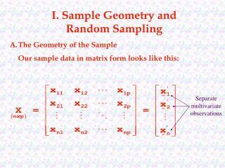 I. Sample Geometry and Random Sampling