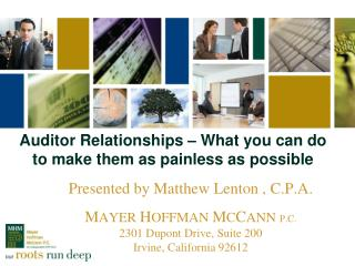 Auditor Relationships – What you can do to make them as painless as possible