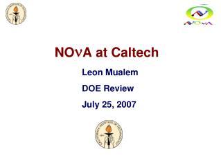 NO n A at Caltech