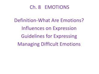 Ch. 8   EMOTIONS