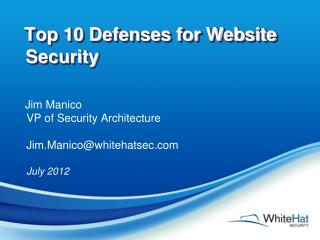 Top 10 Defenses for Website Security
