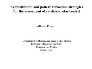 Symbolization and pattern formation strategies  for the assessment of cardiovascular control
