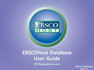 EBSCOhost Database User Guide